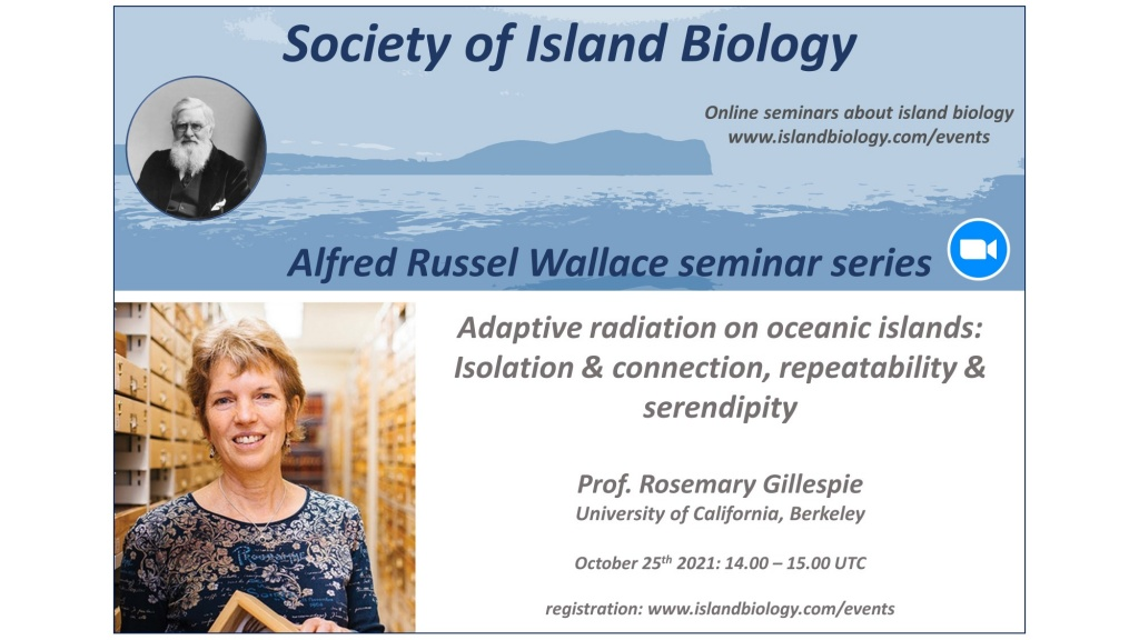 Society of Island Biology launches the Alfred Russel Wallace seminar series